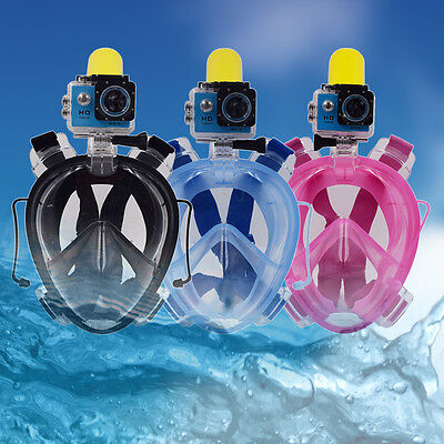 Full Face Snorkeling Snorkel Mask Diving Goggles With Breather Pipe For GoPro