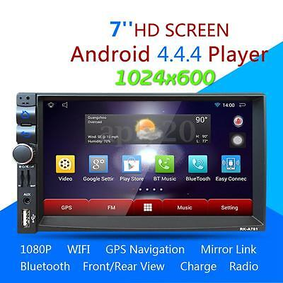 7'' 2DIN Autoradio USB/SD/AUX/GPS FM AM RDS WIFI Bluetooth Touch Screen Android