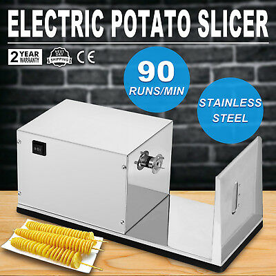 Electric Potato Tornado Slicer Automatic Cutter Machine Twister Spiral Zucchini