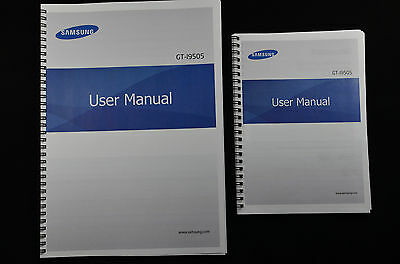 ~PRINTED~ Samsung Galaxy S4 GT-i9505 user guide FULL COLOUR manual  A4 or A5