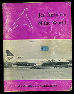 Air-Britain JET AIRLINERS OF THE WORLD 1974 - civil aircraft