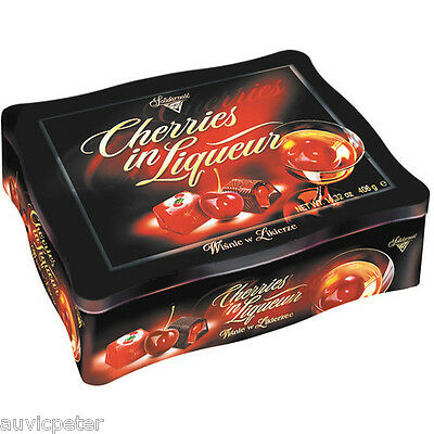 Solidarność Alcoholised Cherry and Cherry Flavour Liqueur Chocolates in Tin