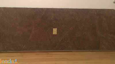 "70 x 32"" Slab of Kentucky Marble 1950's Mocha Tone Vintage Architectural Salvage"