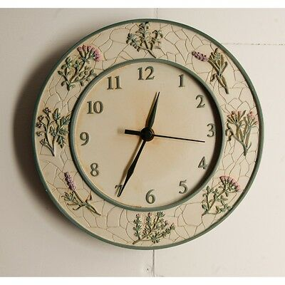 Rustic Floral Themed Kitchen Wall Clock