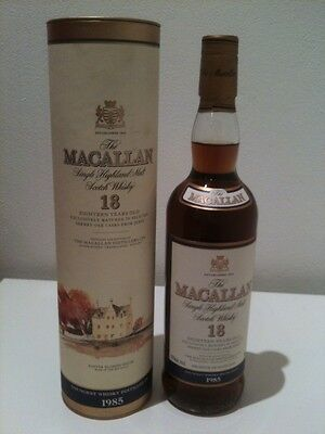 The Macallan 18 Year Old Single Malt Scotch Whisky 1985 Bottling (700mL) - Rare!