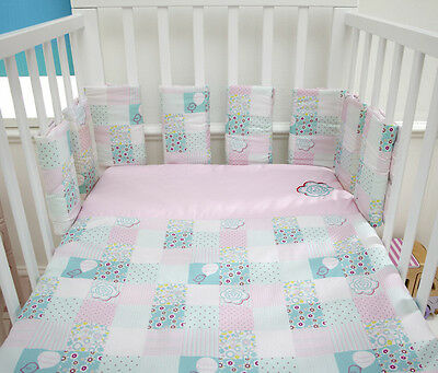 Baroo Tweetdreams Bumper Pods and 2 x Cot Coverlets Baby Birds Set Gift Baby