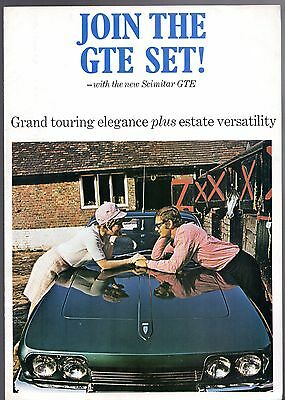 Reliant Scimitar GTE 1968-89 UK Market Foldout Sales Brochure