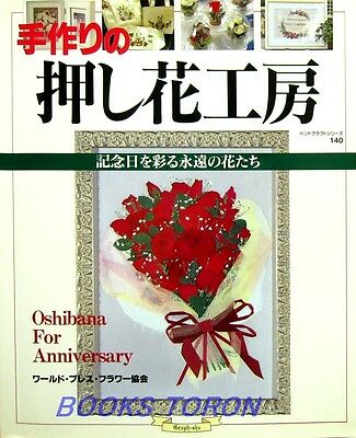 Pressed Flower for Anniversary /Japanese Handmade Flower Craft Pattern Book