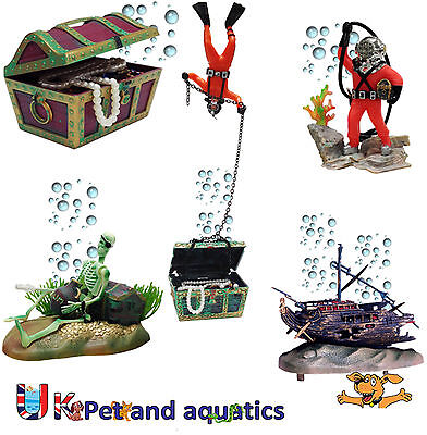Aquarium Fish Tank Air Ornaments, Air Action, Assorted