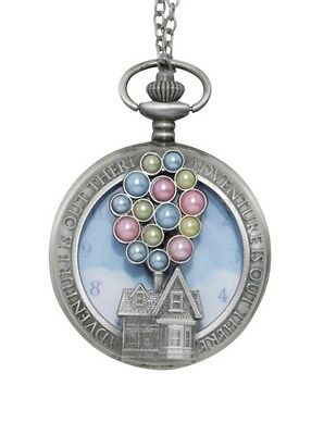 Disney Pixar Up Balloons House Adventure Is Out There Pocket Watch Necklace NWT!