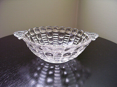 Indiana Glass  Dewdrop Pattern Two Handled Crystal glass Bowl  (CG115)