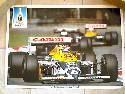 Formule 1 - Williams F1 - Poster Nelson Piquet