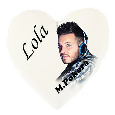 MATT POKORA Heart Cushion personalized with first name