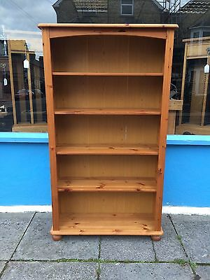 Pine bookcase with adjustable shelves #1273