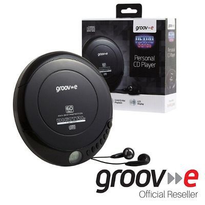 Genuine Groov-E Retro Series Personal Portable Cd Player With Earphones - Black