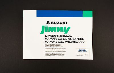 Genuine Suzuki Jimny SN HTOP Owners Manual 99011-81A22-012
