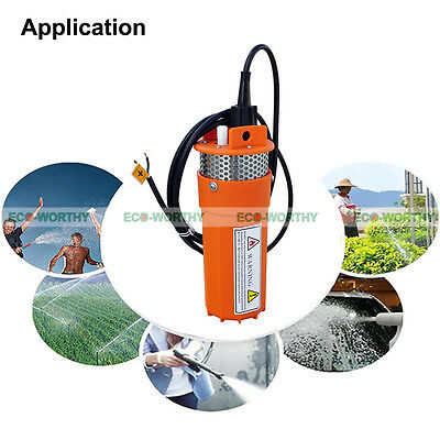 12V Volts Solar Deep Well Water Pump Submersible for Livestock Watering Cabin