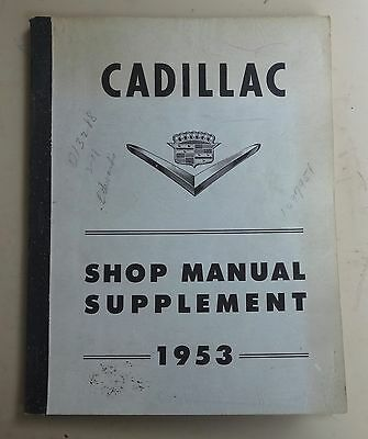 Cadillac Shop Manual Supplement 1953 In Good Condition