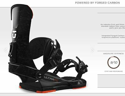 Union Fc Forged Carbon Attacchi Fw 2017 M New Bindings Snowboard