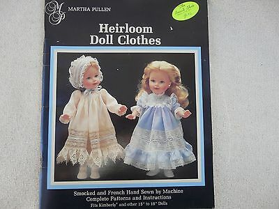 """Martha Pullen Heirloom Doll Clothes smocked 18"""" doll clothes patterns"""