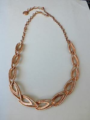 Vintage Wide Chain Link  Gold Tone Metal Necklace Choker