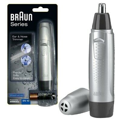 Braun Men's Washable Nose Nasal Ear Hair Clipper Trimmer Exact Series EN10 New *