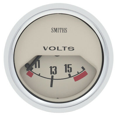 Classic Mini Gauge - 52mm - Volt meter - Magnolia colour NEW Moss Europe GAE122M