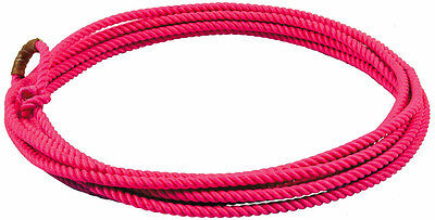 Pink 20 ft jr kids little looper rodeo youth roping rope western lasso lariat sm