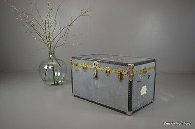 Large Vintage Trunk Blanket Toy Storage Box