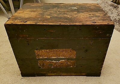 VINTAGE WOODEN LARGE RECEIVER BOX CLYDESDALE SUPPLY EDINBURGH R1155 series RAF