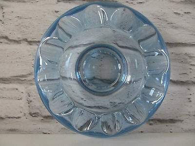 Mid century sklo union light blue green Adolf matura glass bowl dish retro