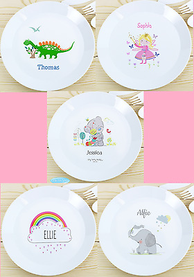 Personalised Girls/Boys Plastic Dinner Plates Perfect Breakfast Meal For Kids UK  sc 1 st  PicClick UK & KIDS GIRLS Plastic Dinner Breakfast Set Of Plate Cup and Bowl Disney ...