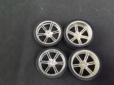 "1:18 6 Spoke Deep dish Wheels & Tyres 19"" 20"" Staggered Tuning Modifying"