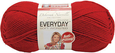 Deborah Norville Collection Everyday Solid Yarn-Really Red 877503001342