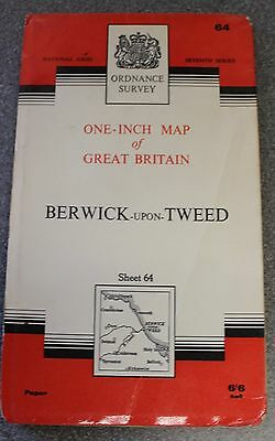 Ordnance Survey One-Inch Map 64 BERWICK-upon-TWEED (1965 Paper)