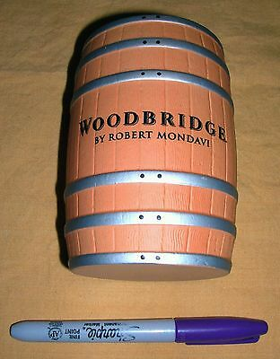 Very Rare New - Woodbridge Thin Wall Ceramic Wine Barrel Pot By Robert Mondavi