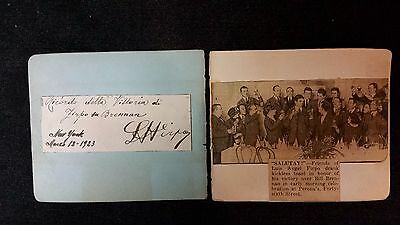 Authentic Luis Angel Firpo Autograph, March 23, 1923, Date He Defeated Brennan