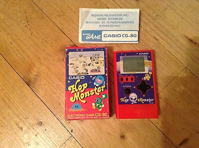Casio Cg-80 Hop Monster Electronic Game Vintage