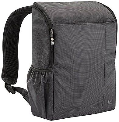 RIVACASE 8261 Polyester Backpack for 15.6 Inch Laptops, Black