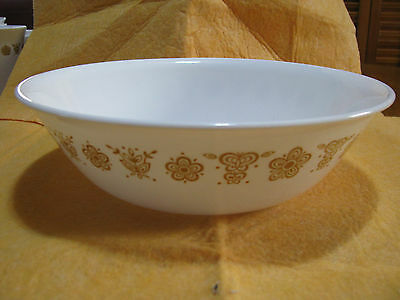 Vintage Gold Butterfly Corelle by Corning Serving Bowl