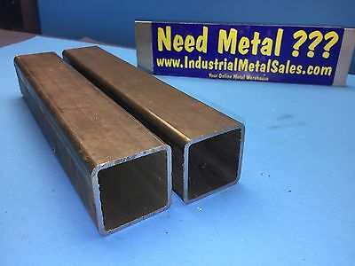 "2 Pieces Steel Square Tube 2"" x 2"" x 11""-Long x .125"" Wall- 2"" Steel Square Tube"