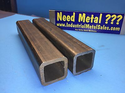 "2 Pieces 2"" x 11""-Long x 1/4""Wall Steel Square Tube-- 2"" x .250"" Wall Steel Tube"