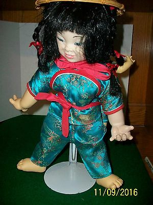 """Asian Mother 14"""" doll with Child 9"""" Doll"""