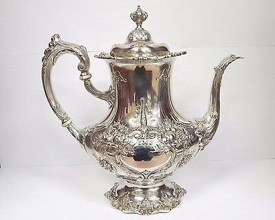 """Reed & Barton Francis 1 Pattern Large Coffee Pot 11"""" 571A Sterling Silver 925"""