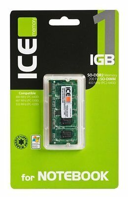 ICEmemory - Memoria per Notebook SO-DDR 2 800/667/533 MHz da 1 GB - Retail