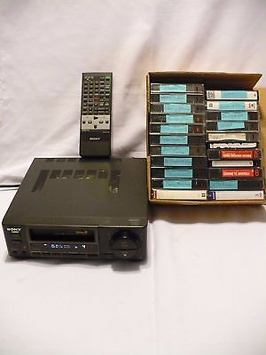 Sony EV-A50 8mm Video8 Cassette Player Recorder Deck Remote, Movies Parts/Repair