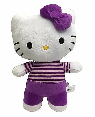 Official Licensed: Purple Bow Tie Hello Kitty Plush Soft Stuffed Plush Toys