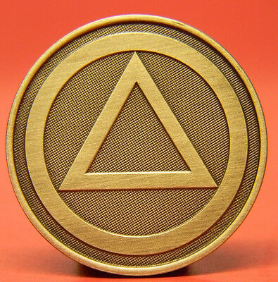 Circle & Triangle Medallion - Bronze - Pain Is Necessary Suffering Is Optional