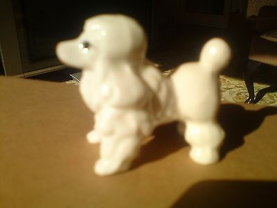 White Poodle And 2 White Cats,china,porcelain,dog,cats,animals,ceramic
