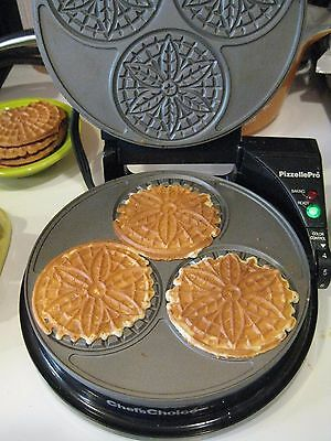 Chef's Choice International Pizzelle Pro Express Bake Pizzelles Model 835